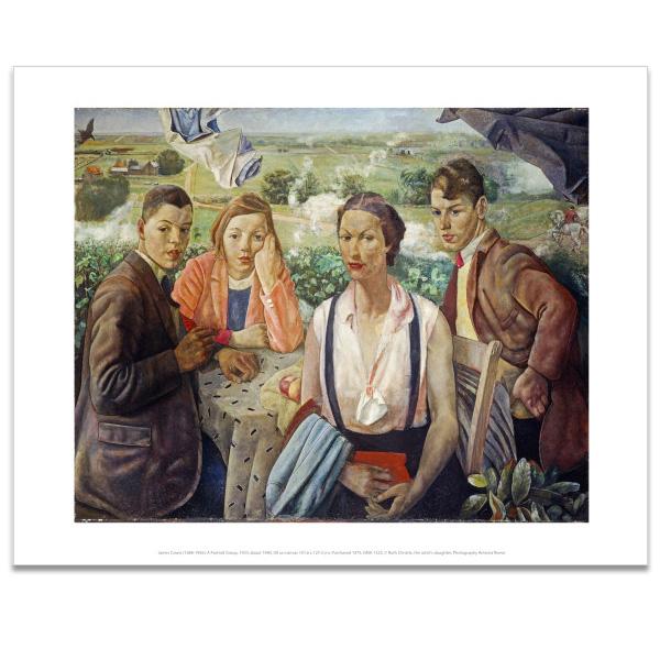 A Portrait Group James Cowie Art Print