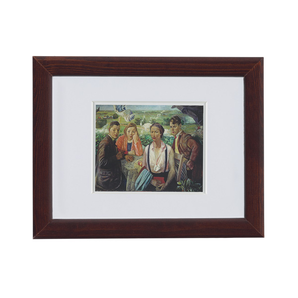 A Portrait Group by James Cowie ready to hang small framed print
