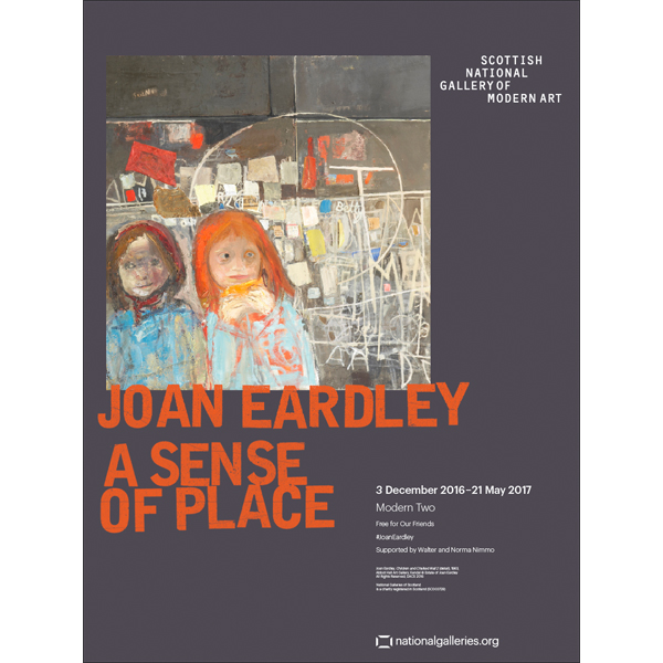 A Sense of Place Joan Eardley Grey Exhibition Poster