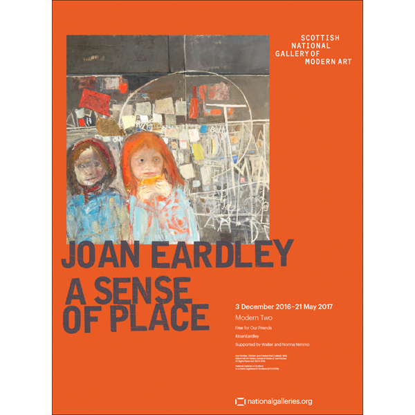 A Sense of Place Joan Eardley Orange Exhibition Poster