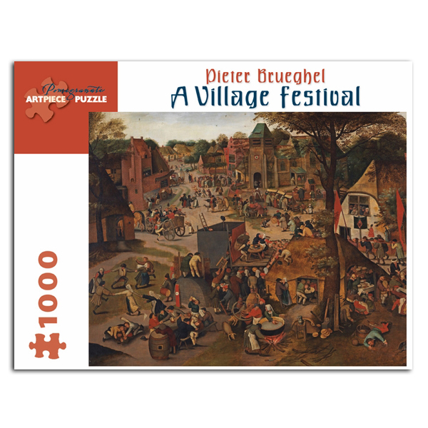 A Village Festival by Pieter Brueghel jigsaw puzzle (1000 pieces)