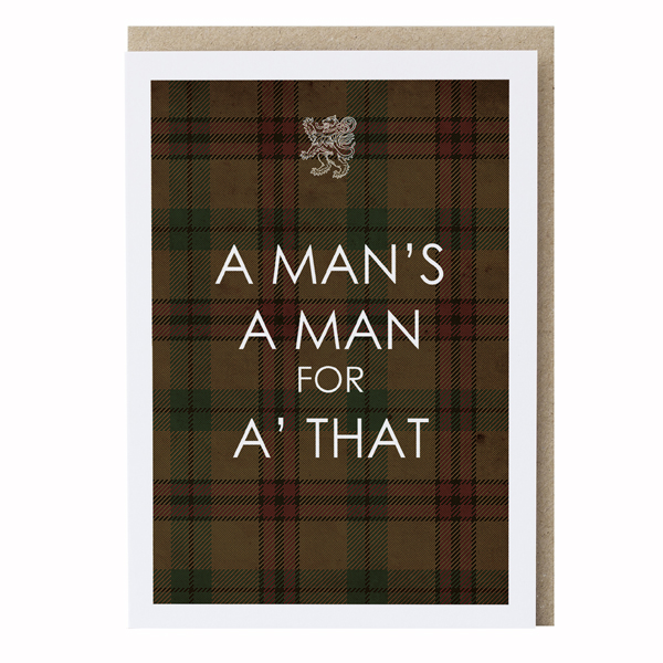 A man's a man for a' that greeting card