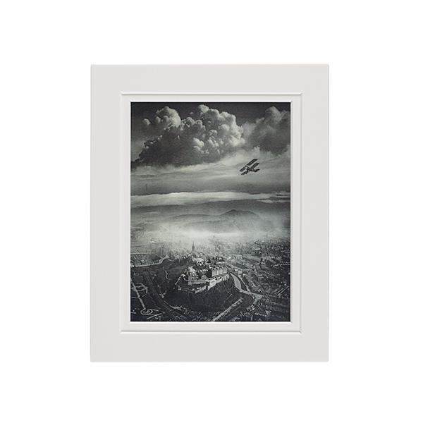 Aerial View of Edinburgh by Alfred Buckham A5 mounted art print