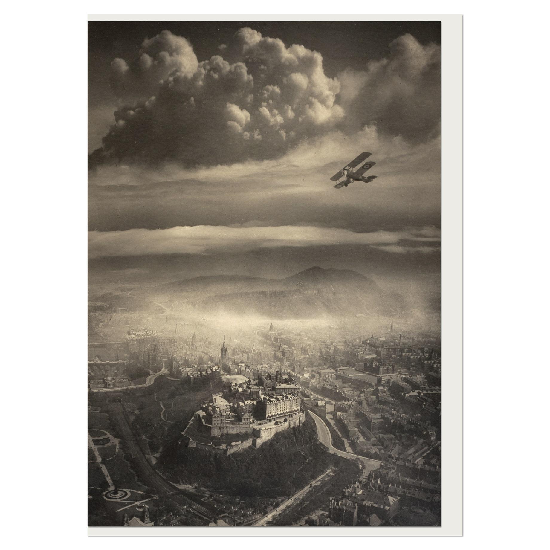 Aerial View of Edinburgh by Alfred G Buckham greeting card