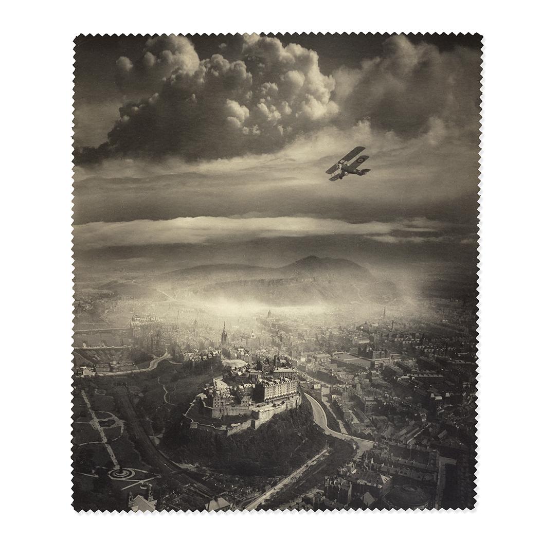 Aerial View of Edinburgh by Alfred G Buckham lens cloth