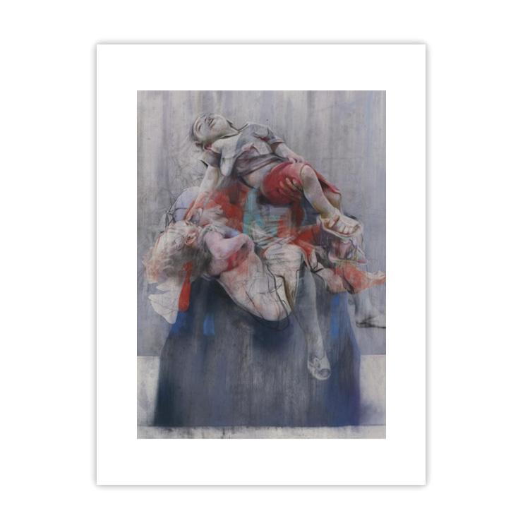 Aleppo by Jenny Saville large mounted postcard