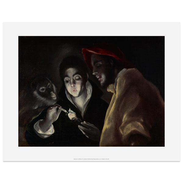An Allegory (Fàbula) by El Greco art print