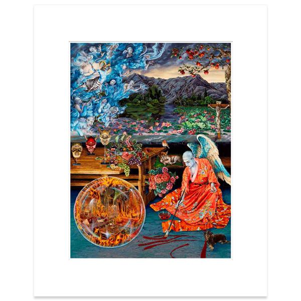 An Allegory of Melancholy (after Lucas Cranach the Elder) Raqib Shaw Mounted Art Print