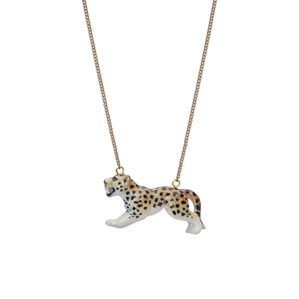 And Mary Leaping Leopard Necklace