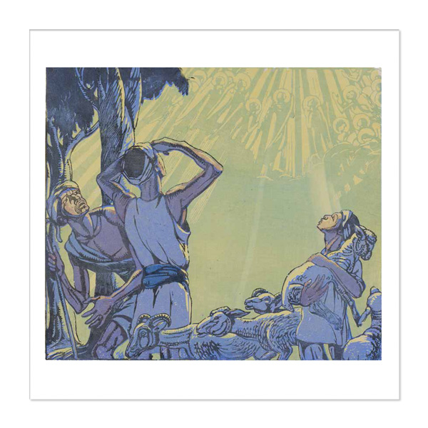Angels Appearing to the Shepherds by Mabel Royds Christmas card pack (10 cards)