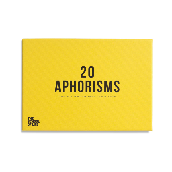 Aphorisms cards by The School of Life