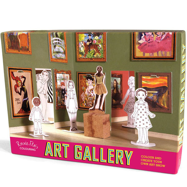Colouring pop up art gallery