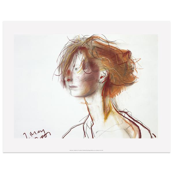 Tilda Swinton by John Byrne art print