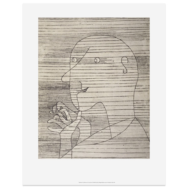 Old Man Calculating Paul Klee Art Print