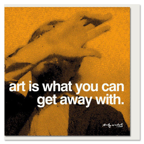 Art by Andy Warhol greeting card