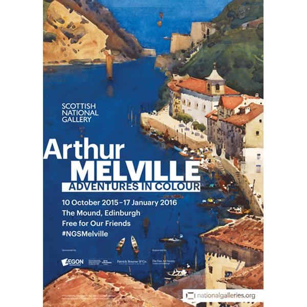 Arthur Melville Adventures in Colour exhibition poster