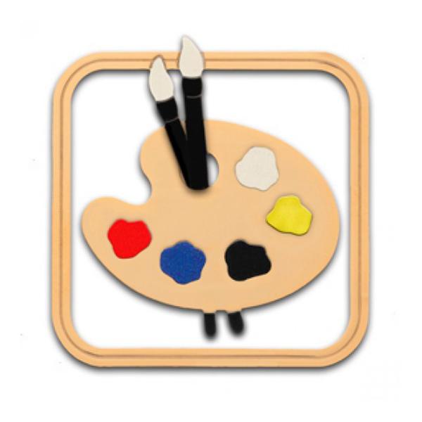 Artist's palette brass bookmark