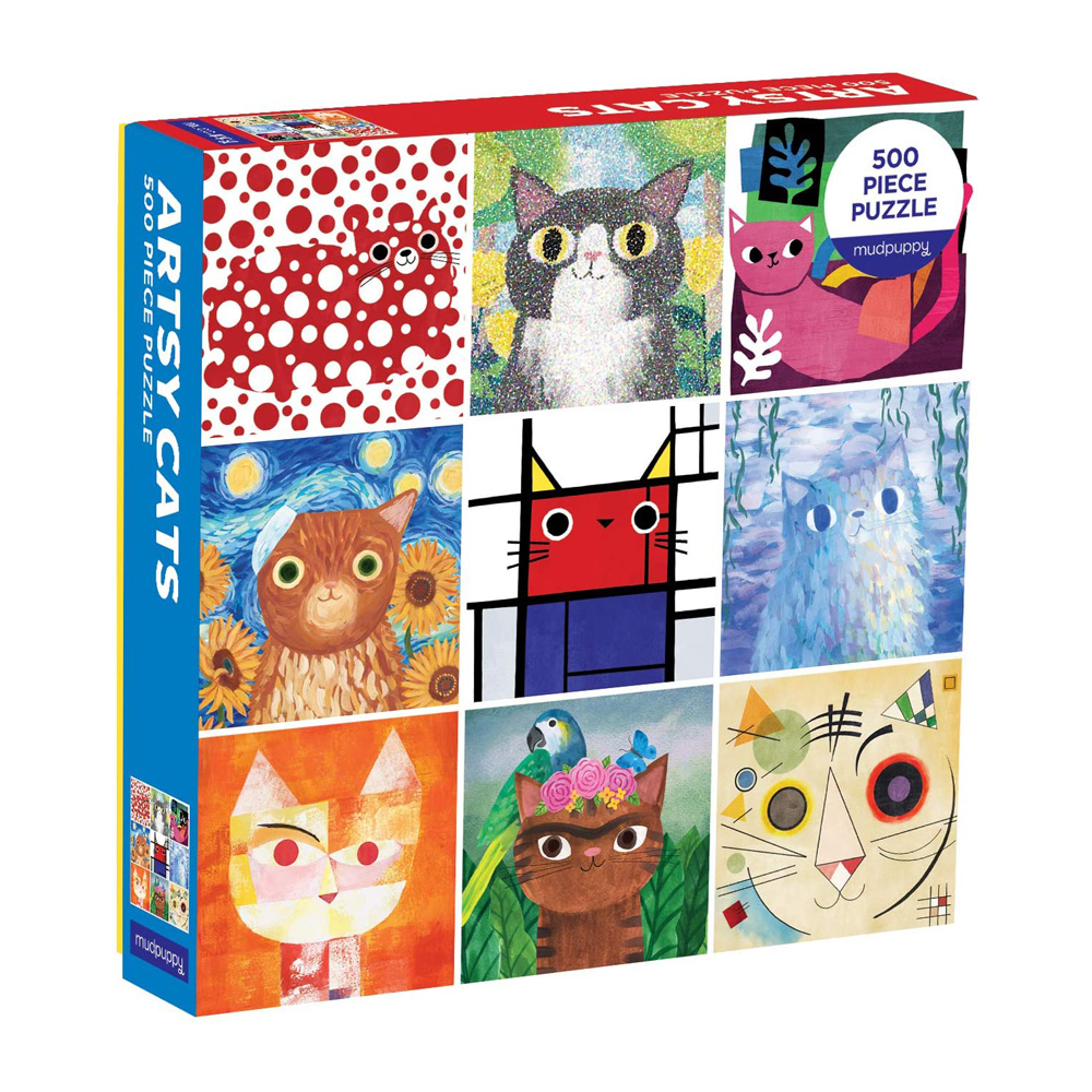 Artsy Cats family jigsaw puzzle (500 pieces)