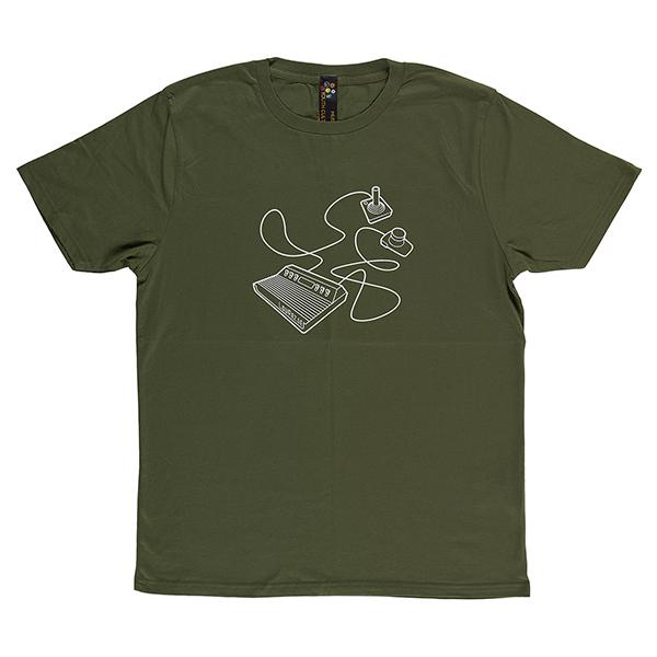 Atari graphic olive medium cotton t-shirt