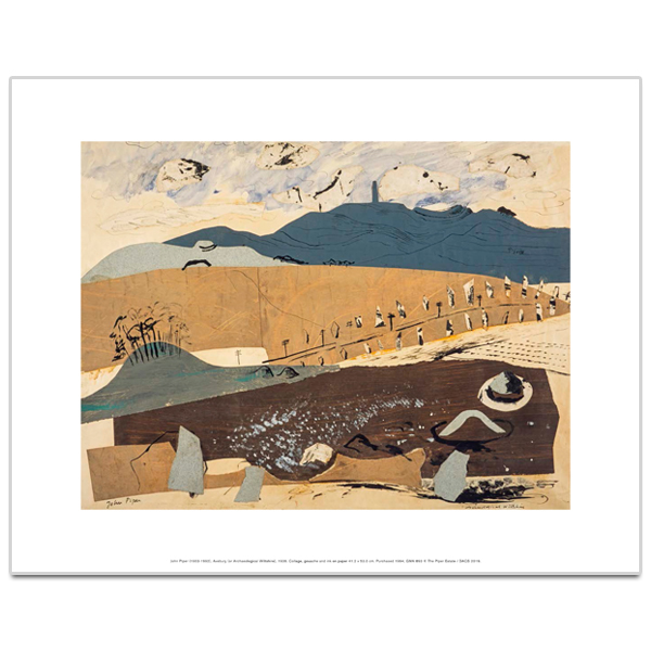 Avebury (or Archaeological Wiltshire) by John Piper art print