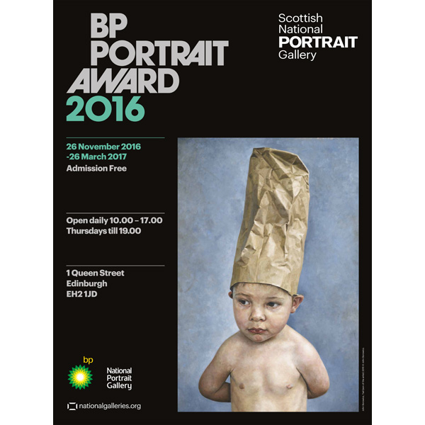BP Portrait Award Tad Son of Artist Exhibition 2016 Poster