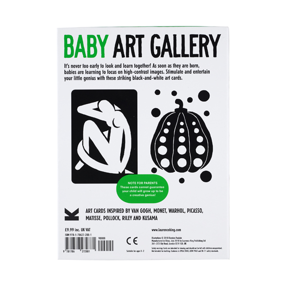 Baby art gallery cards: turn your baby into an art critic