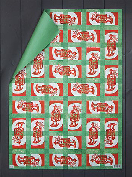 Design for Wrapping Paper (Bagpipe Player) by Edward Bawden gift wrap (single sheet)