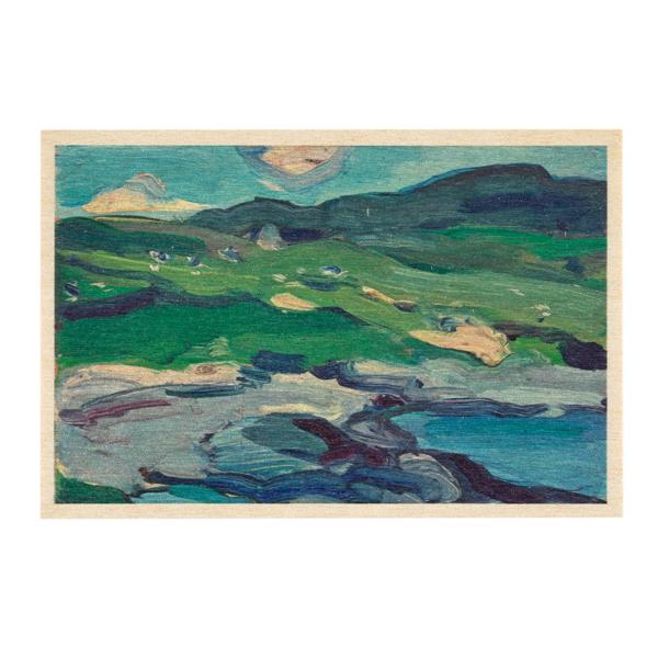 Barra by Samuel John Peploe wooden postcard