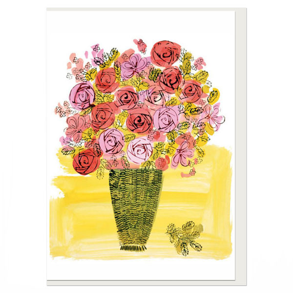 Basket of Flowers by Andy Warhol greeting card