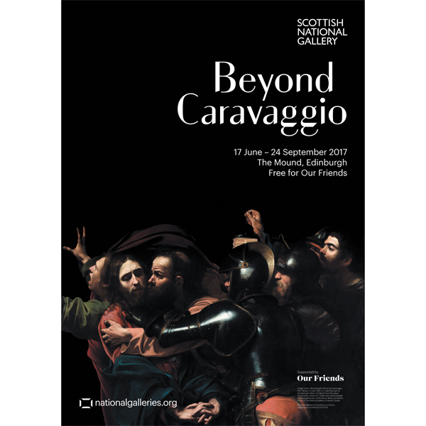 Beyond Caravaggio Exhibition Poster