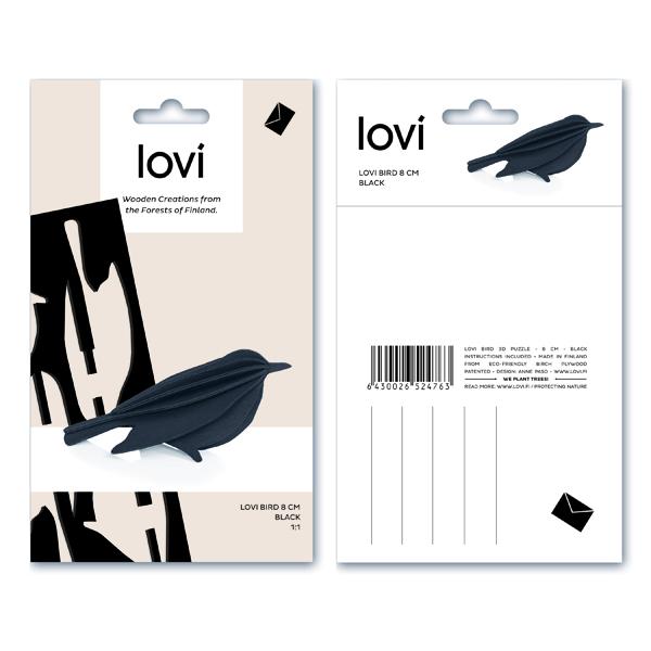 Black bird flat pack construction kit