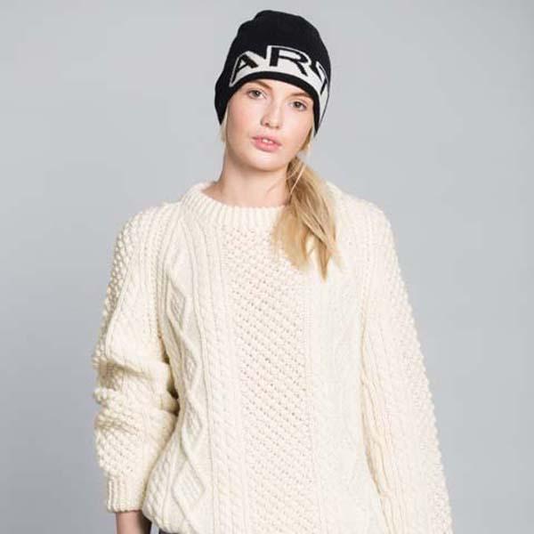 Black and white Art unisex lambswool hat