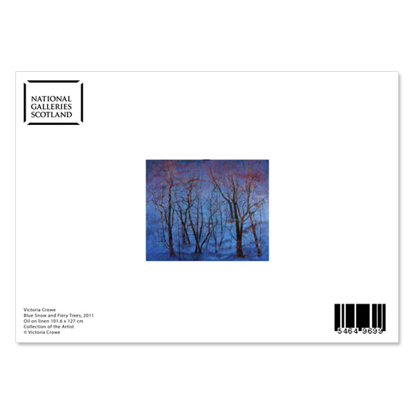 Blue Snow and Fiery Trees by Victoria Crowe greeting card