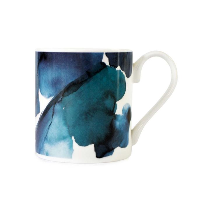 Blue skies abstract pattern mug