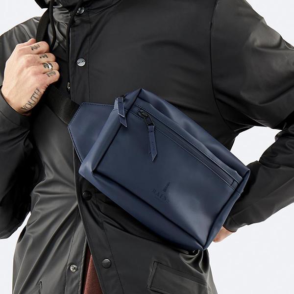 Small waterproof blue waist bag