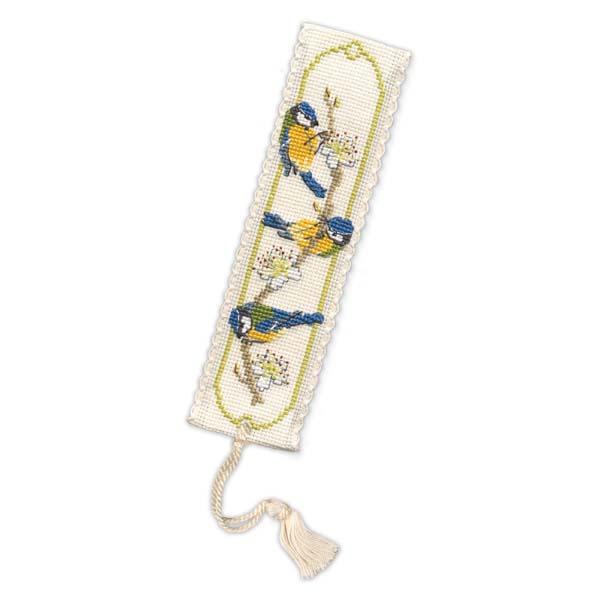 Bluetit bookmark cross-stitch kit