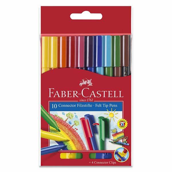 Faber-Castell Connector Fibre-tip Pen Box of 10