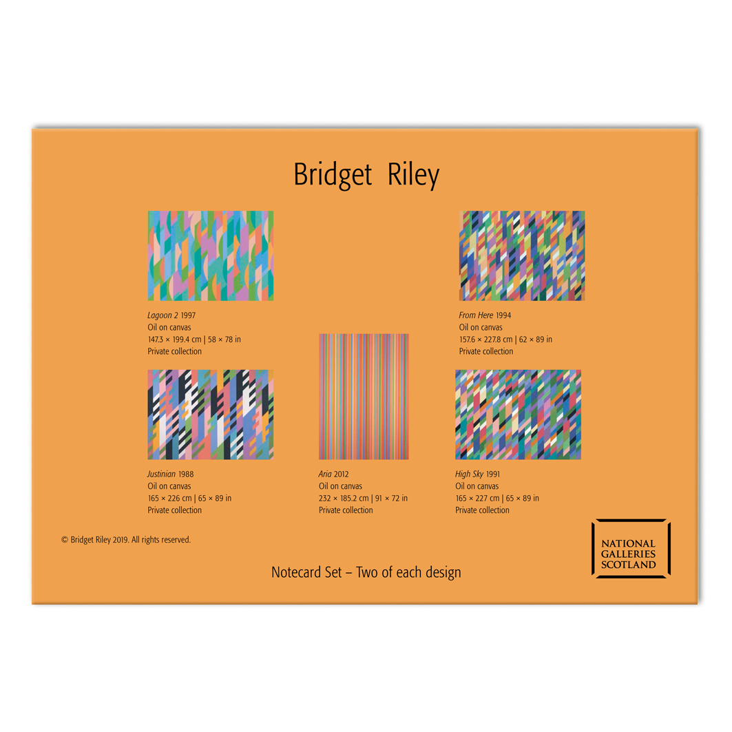 Bridget Riley notecard set