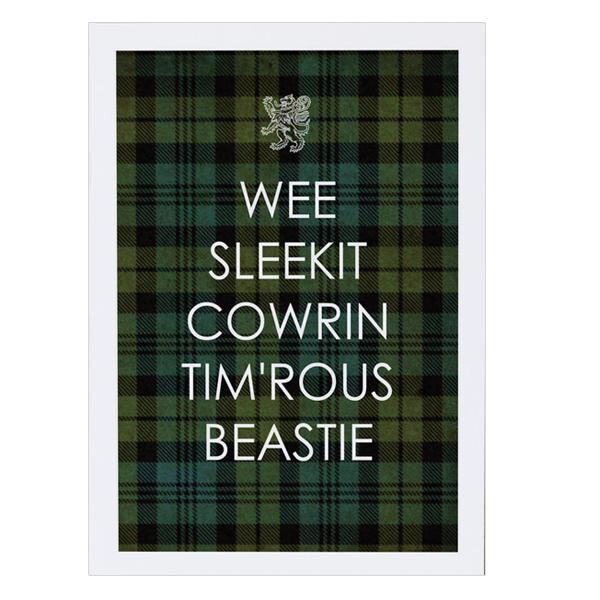Wee Sleekit Cowrin Tim'rous Beastie Greeting Card