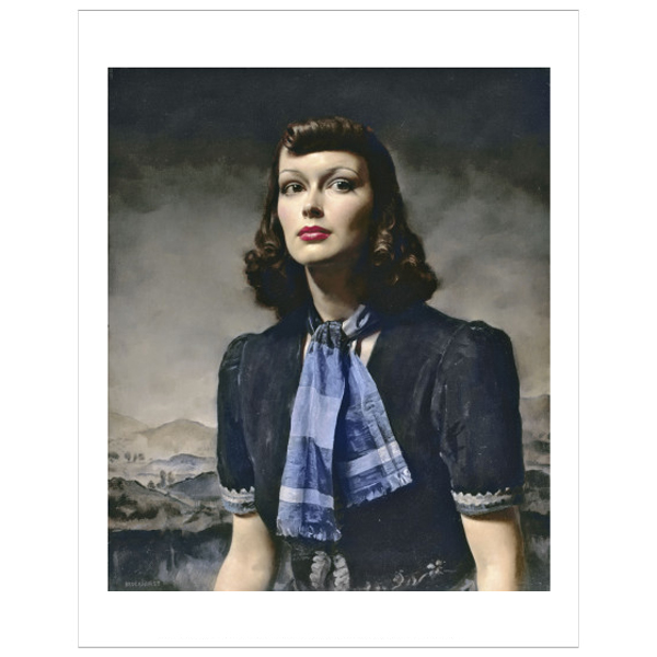 By the Hills by Gerald Leslie Brockhurst giclee print (50 x 40cm)