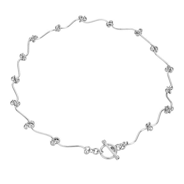 Tianguis Jackson Flexible Knot Silver Necklace