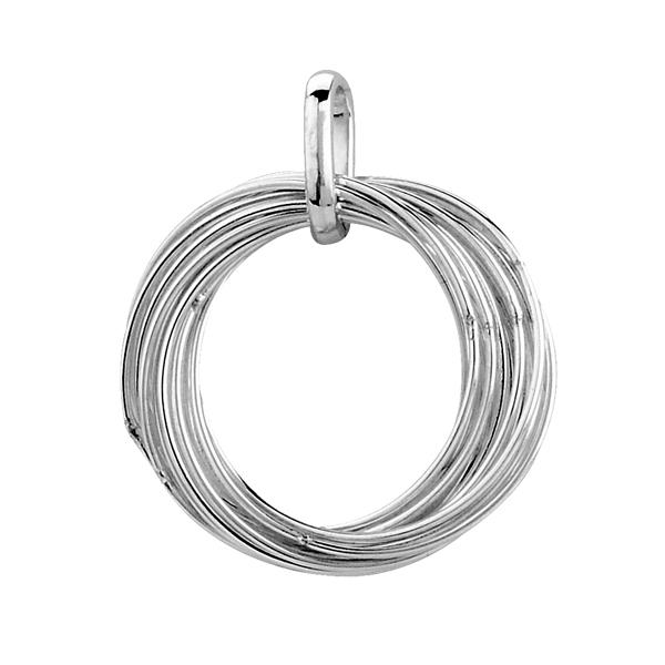 Tianguis Jackson Open Rings Silver Pendant