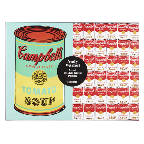 Campbell's Soup Can Andy Warhol Two-in-One Puzzle