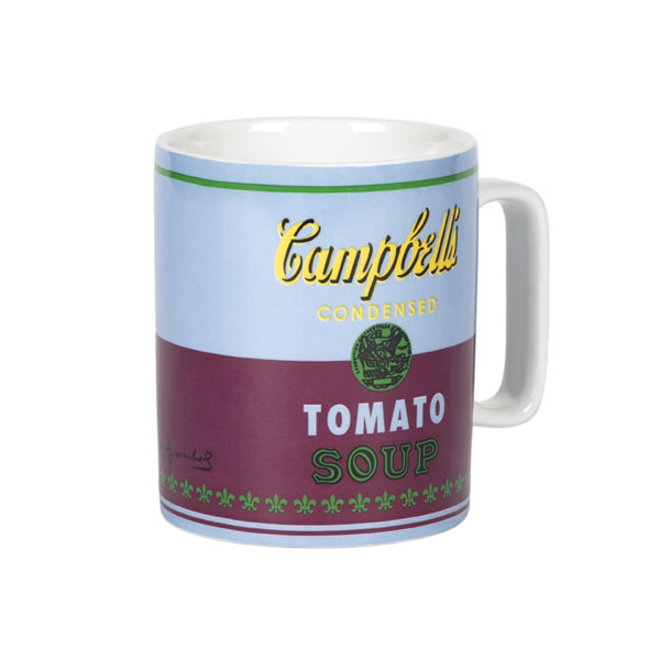 Campbell's Tomato Soup Andy Warhol Red Violet Mug