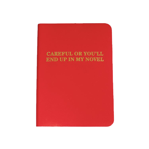 Careful or you will end up in my novel red leather notebook