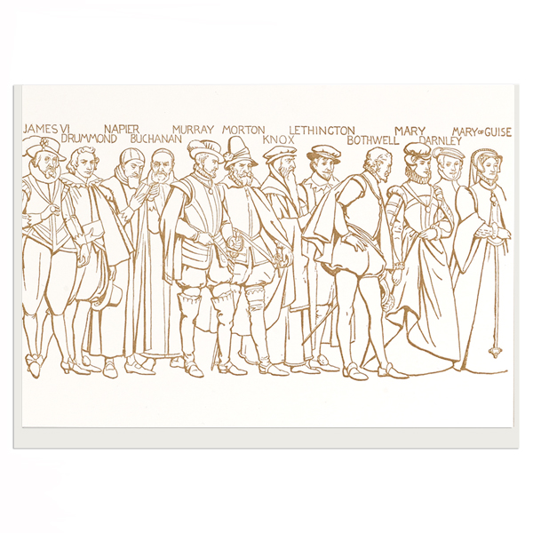 Scottish National Portrait Gallery Frieze Cartoon Greeting Card