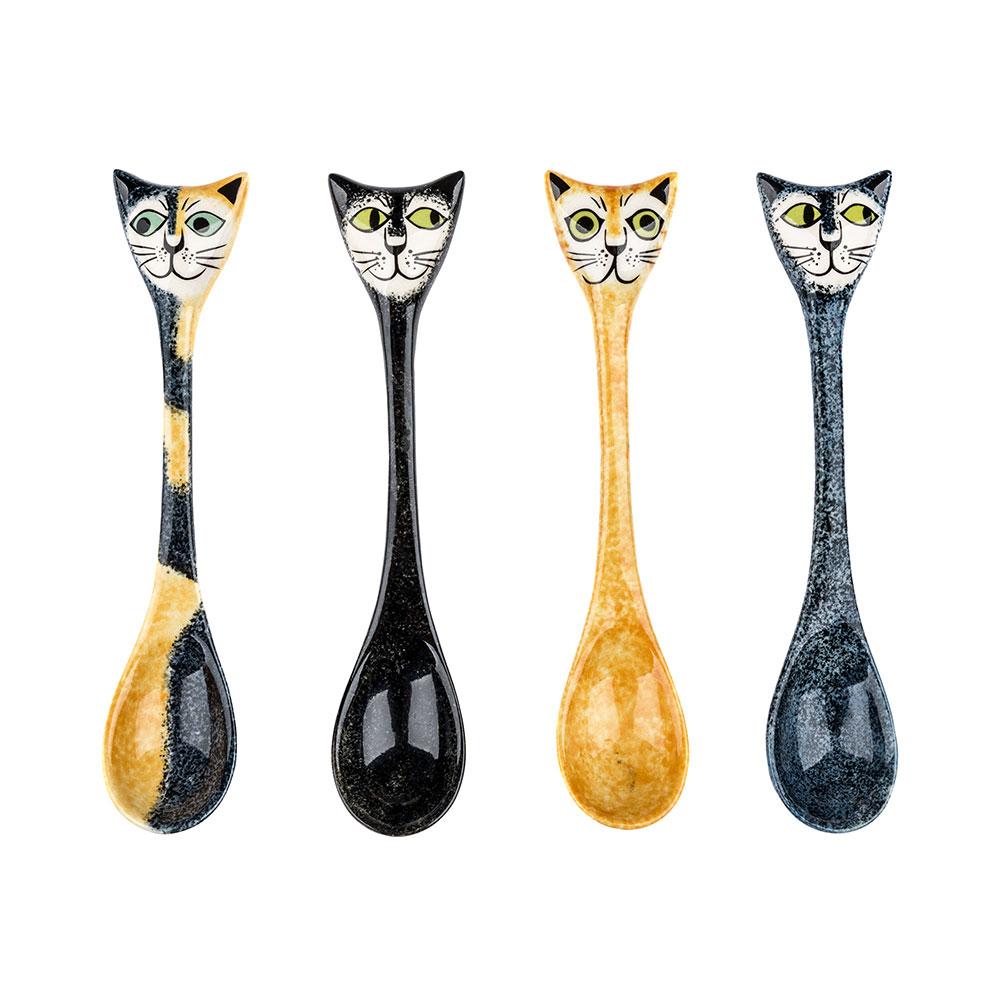 Cat ceramic spoon set (4)