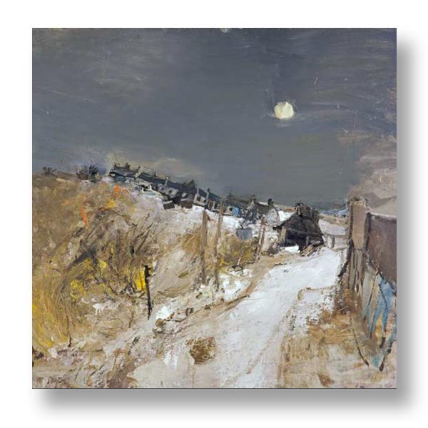 Catterline in Winter by Joan Eardley ready to hang canvas print