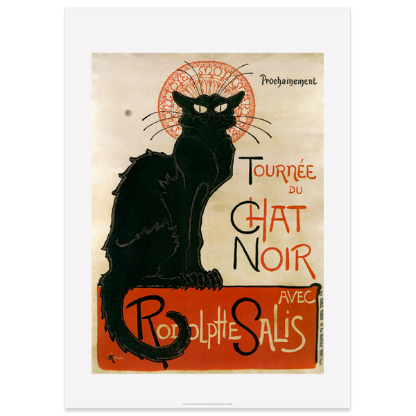Le Chat Noir Theophile Steinlen Large Poster Print
