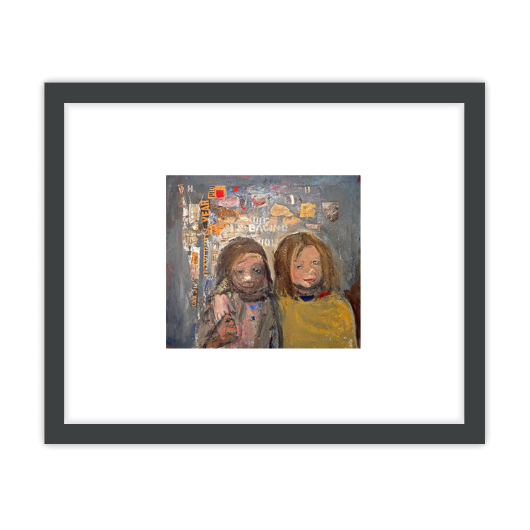Children and Chalked Wall 3 by Joan Eardley ready to hang framed print